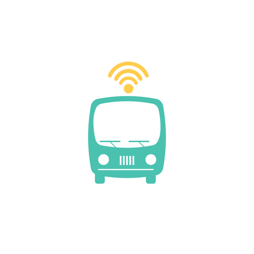 wifi-enabled bus graphic