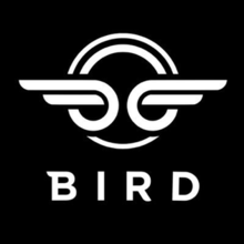 Bird logo and link to website