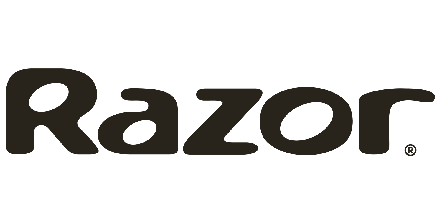 Razor logo and link to website