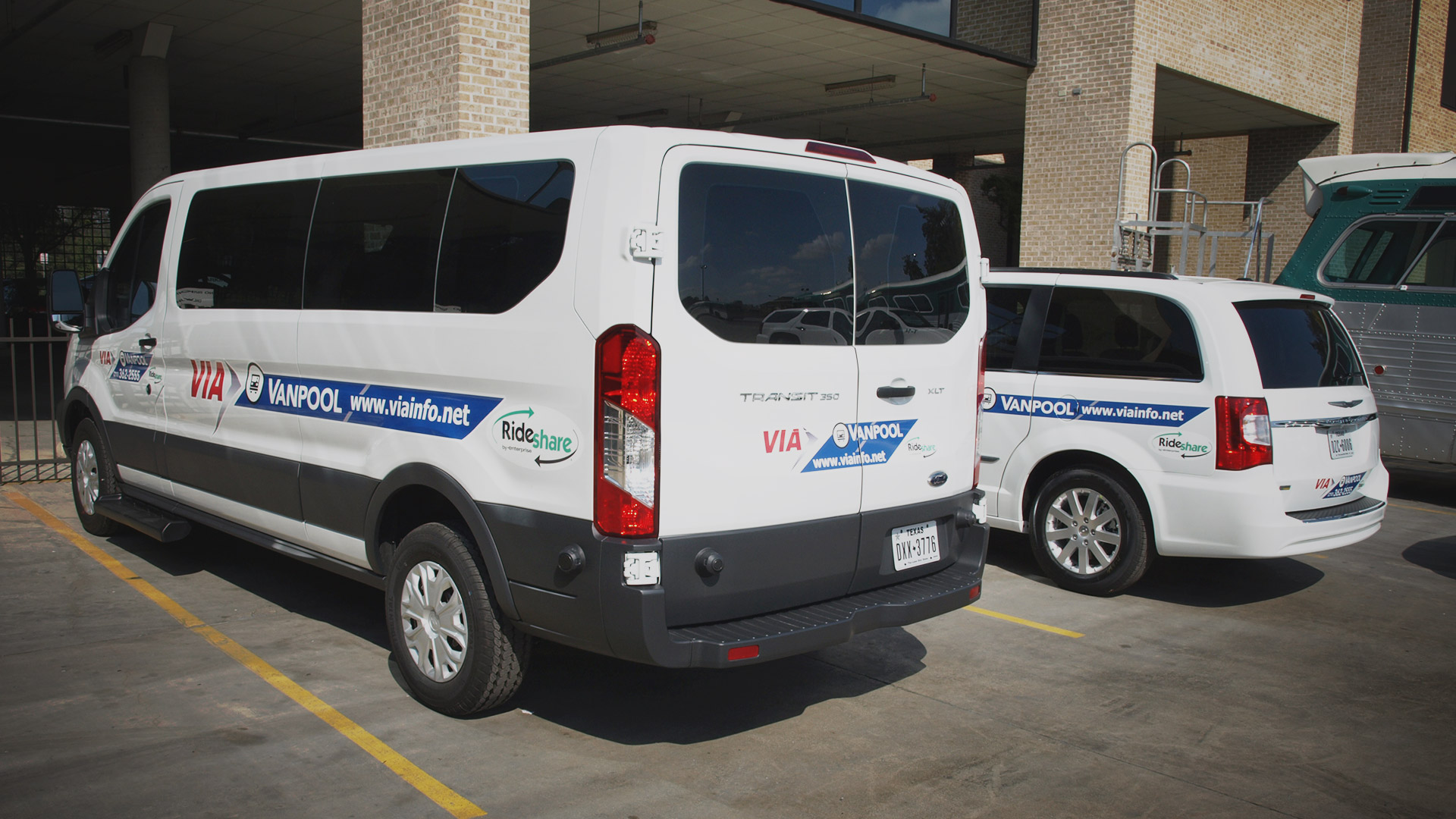 image of VIA vanpool vans